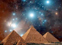 Orion's Belt and pyramids at Giza