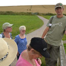 Peter talks about the origins of The Kennet River with the Long Barrow in the distance