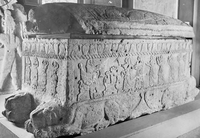 Sarcophagus of Ahiram in the National Museum of Beirut
